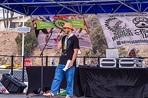 Jason Robo performing comedy at the 420 Games in Los Angeles 2018.jpg