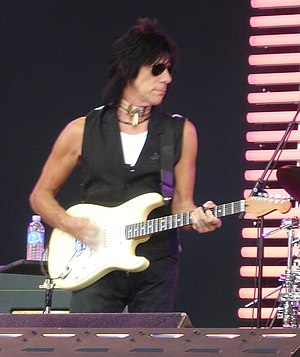 Jeff Beck performing at the Crossroads Guitar ...