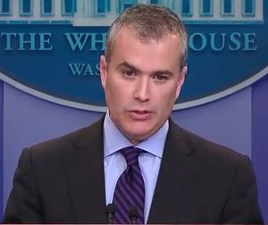 Jeffrey Zients - Jeffrey Zients speaking at White House press briefing on a possible government shutdown (2011)
