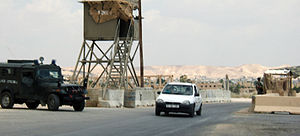 Israeli checkpoint - An Israel Border Police checkpoint at Jericho's southern entrance, 2005