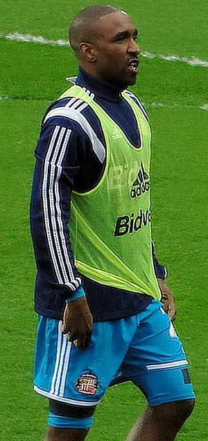 Jermain Defoe - Defoe warming up for Sunderland in 2015