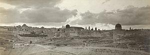 American Colony, Jerusalem - Panorama of Jerusalem, c. 1900-1940 by American Colony Jerusalem.