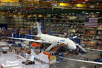Boeing Everett Factory - Jetstar's first 787 being built.