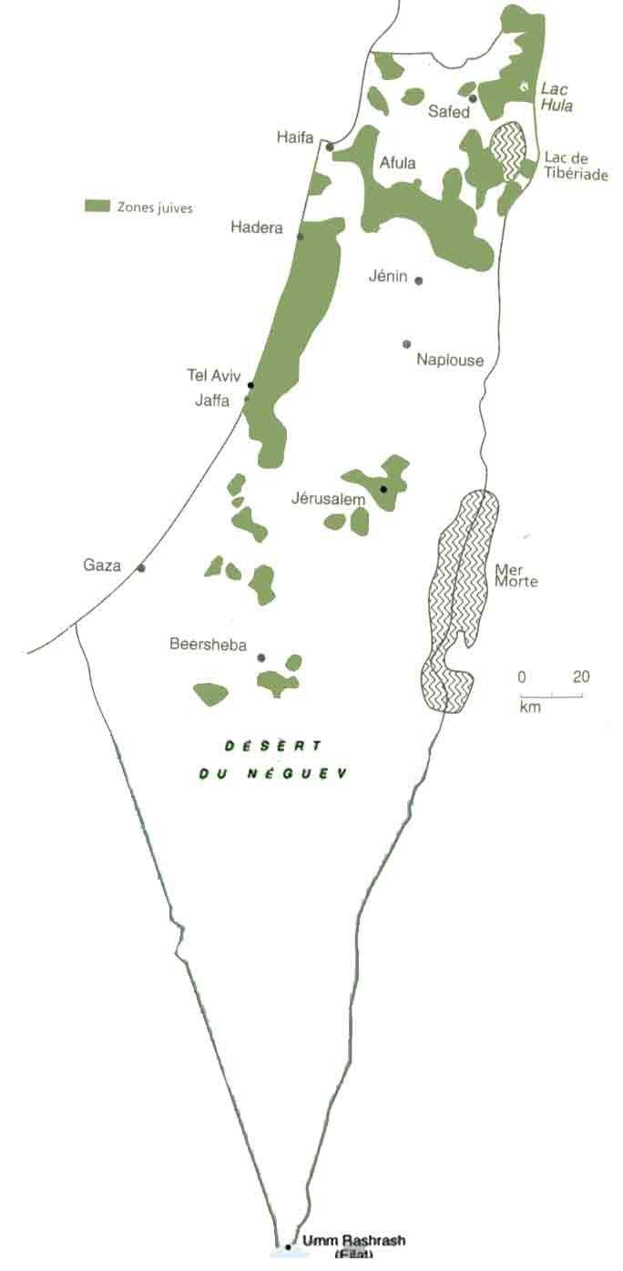Jewish zones 1947
