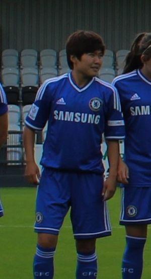 Ji So-yun - Ji lining up for Chelsea in 2014.