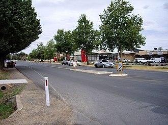 Jindera - Jindera - looking south in the main street