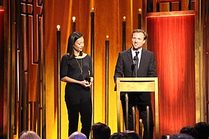 Virunga (film) - Joanna Natasegara and Orlando von Einsiedel at the 74th Annual Peabody Awards