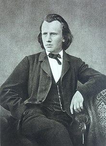 Der junge Johannes Brahms (um 1866) (Quelle: Wikimedia)