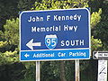 John F. Kennedy Memorial Highway sign at Maryland House southbound.jpg