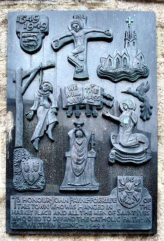 St Ives, Cornwall - John Payne memorial, St Ives