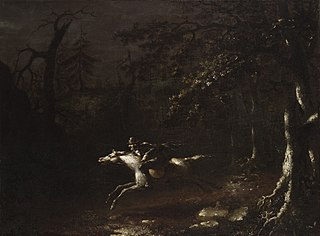 Ichabod Crane Flying from the HeadlessHorseman