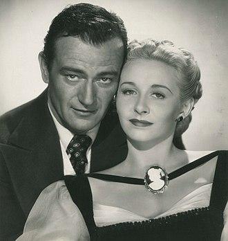 Vera Ralston - John Wayne and Vera Ralston in Dakota (1945)