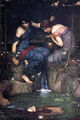 John William Waterhouse, 1900 - Nymphs finding the head of Orpheus, 1900 version