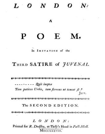 Title page of London second edition Johnson London 01.jpg