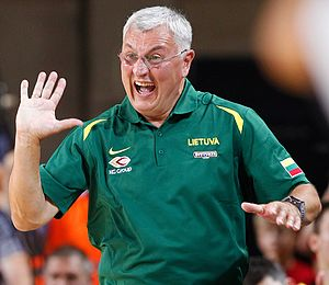 BC Žalgiris - Jonas Kazlauskas, coach of the 1998–99 Euroleague champions