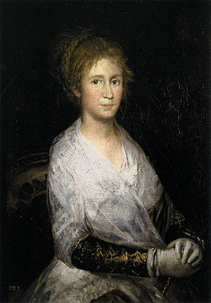 La Leocadia - Francisco Goya, It is not known whether this 1805 Goya portrait is of his wife Josefa Bayeu or mistress Leocadia Weiss.