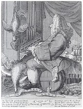 Caricature of Handel by Joseph Goupy (1754) (Source: Wikimedia)