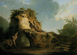 Virgil's Tomb (Joseph Wright paintings) - Virgil's Tomb: sun breaking through a cloud: the 1785 version in the Ulster Museum, Belfast