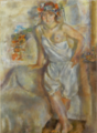 JulesPascin-1929-Geneviève with a Garland of Flowers.png