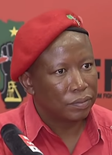 Julius Malema South African political activist