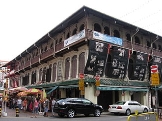 Architecture of Singapore - Lai Chun Yuan opera house in Chinatown.