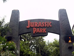 Jurassic Park Entrance Arch at the Universal Islands of Adventure.JPG