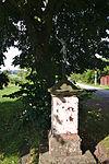 Kříž u žluté značené cesty do Sebranic, Svitávka, okres Blansko.jpg