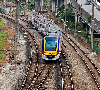 KTM Komuter - Class 92 SCS 14 at KL Sentral Junction