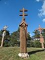 Kadrėnai, kryžius partizanams.JPG