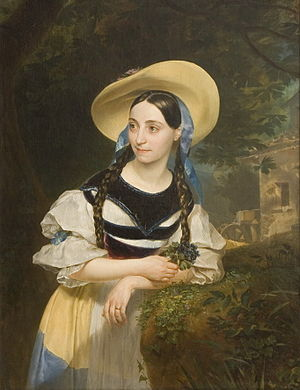 Fanny Tacchinardi Persiani as Amina by Karl Bryullov, 1834 Karl Brullov 04.jpeg