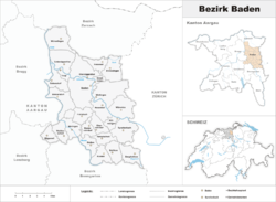 Location of Bezirk Baden