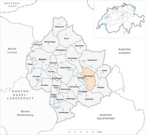 Wenslingen - Image: Karte Gemeinde Wenslingen 2007