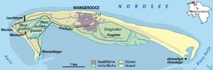 Karte Insel Wangerooge