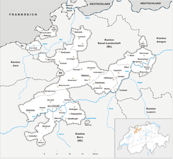 Map of the Canton of Solothurn
