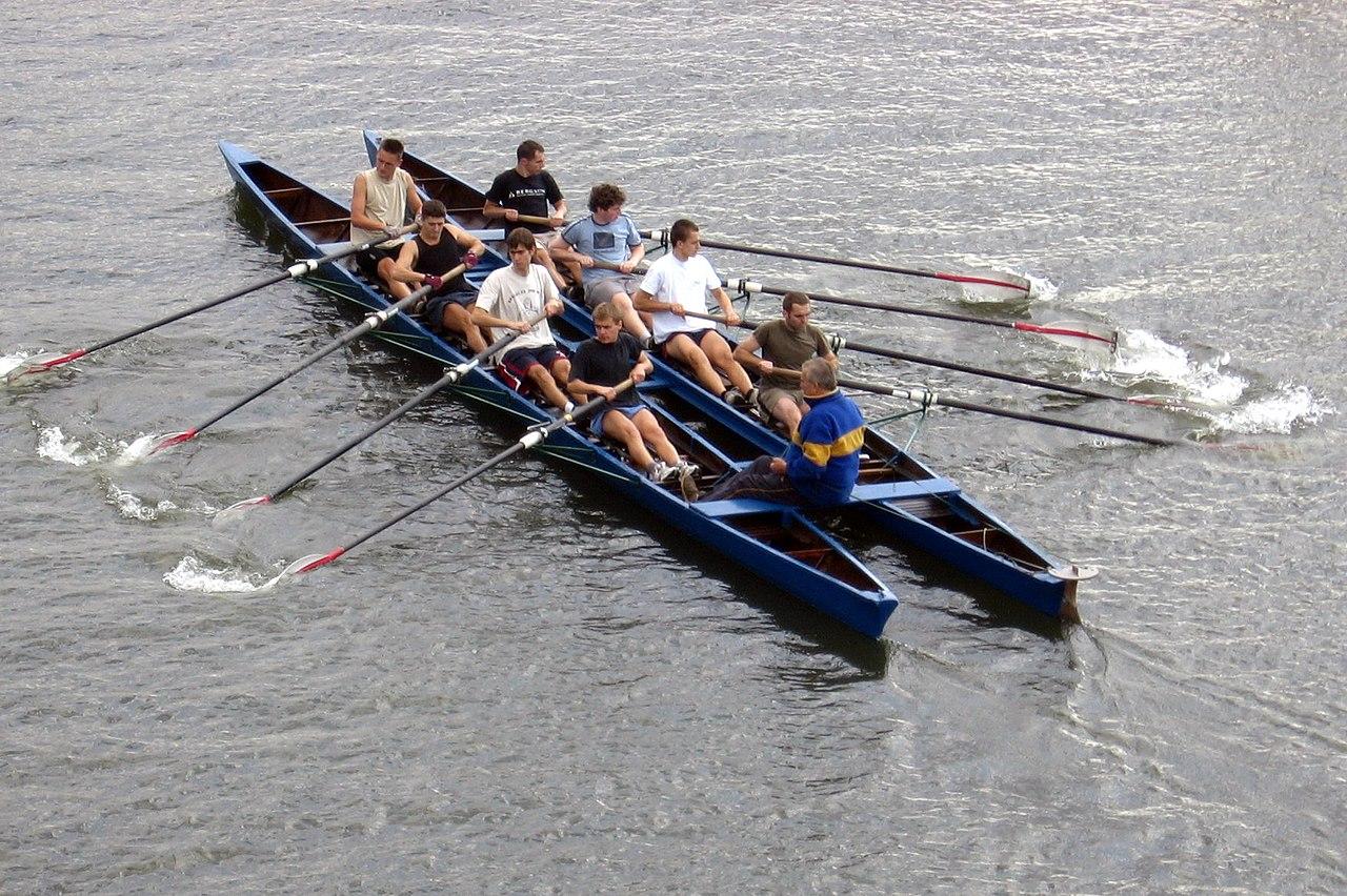 row training on catamaran