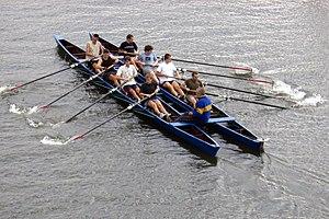 Catamaran - Training catamaran for sweep-oar rowing.