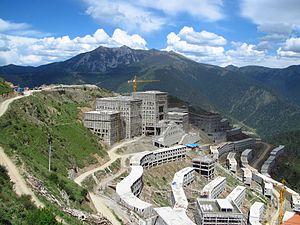 Katok Monastery - Katok Monastery's new complex under construction in 2014