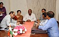 Kavuru Sambasiva Rao witnessing the signing of Memorandum of Understanding between National Textile Corporation Limited (NTC) and National Handloom Development Corporation Limited (NHDC), in New Delhi. The Secretary.jpg