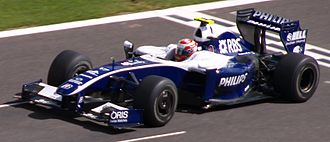 Kazuki Nakajima - Nakajima driving for Williams at the 2009 Belgian Grand Prix.