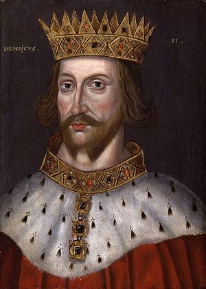 Royal badges of England - Image: King Henry II from NPG