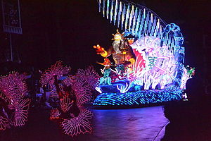 Paint the Night - The Little Mermaid float at Disneyland, California in 2015.