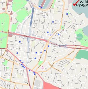 Bayswater Road, Sydney - Image: Kings Cross Map