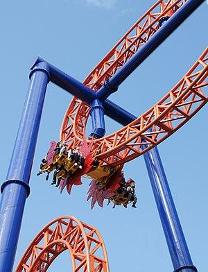 English: Kirnu, a steel roller coaster in Linn...