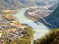 Kiso river from Sarubami castle observation tower.jpg
