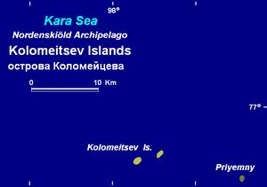 Kolomeytsev Islands - Map of the Kolomeitsev Islands