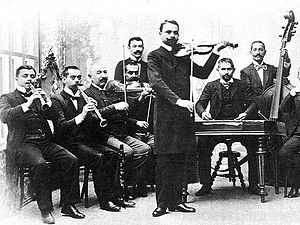 Romani people in Hungary - Romani orchestra in the 1890s, Kolozsvár (Cluj, Klausenburg)