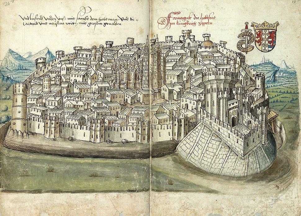 Konrad von Grünenberg - Beschreibung der Reise von Konstanz nach Jerusalem - Blatt 26v-27r