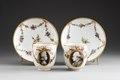 Kopp med fat. 2st - Hallwylska museet - 87163.tif
