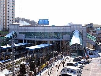 Baegun station - Image: Korail Baegun station