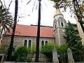 Korsika – Ajaccio – Cours du Général Leclerc - Ecole Nationale de Musique et de Danse - L'église Anglicane - panoramio.jpg